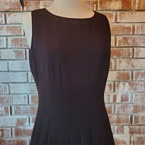 Calvin Klein Black Pleated Fit n Flare Dress Sz6